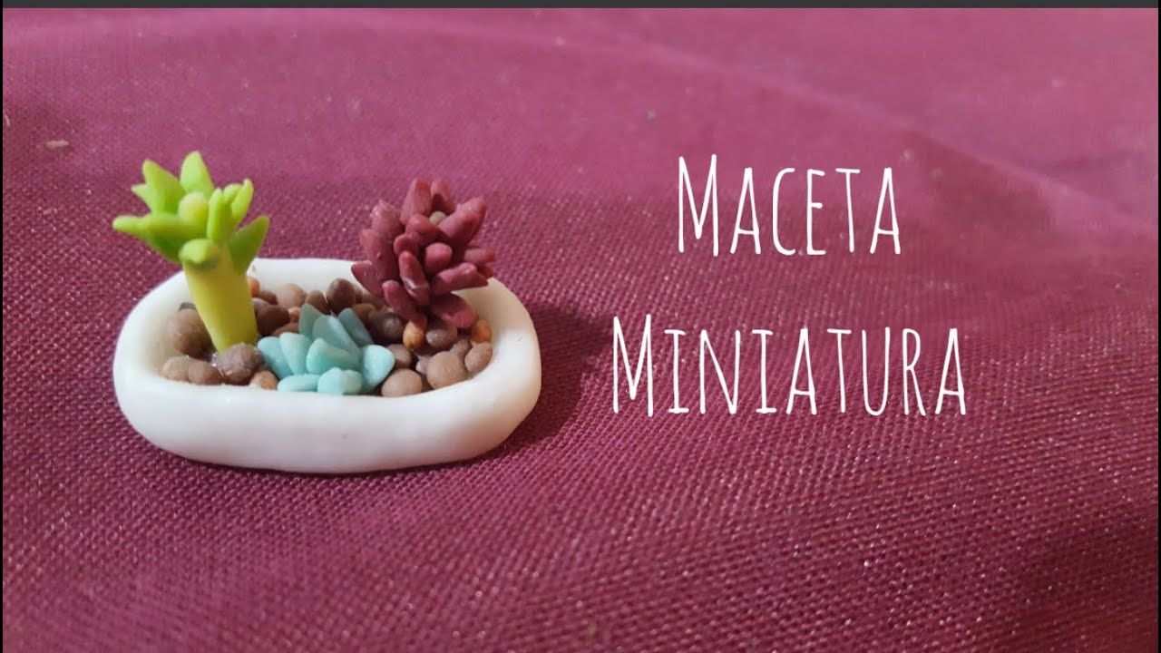 Macetas miniatura de porcelana youtube Tiestos decorados