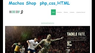 Proyecto 1 Machos Shop  php,css,HTML