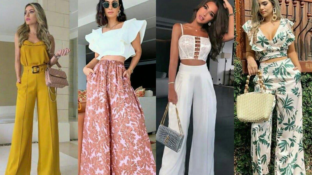 Outfits Con Pantalones Palazzos Combinaciones De Moda 2021 Youtube