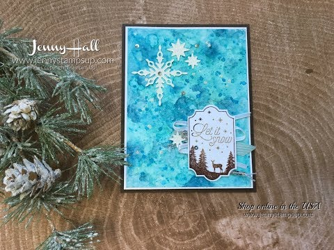 How to create a watercolor Galaxy Background using Stampin Up products with Jenny Hall