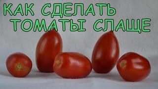 Как сделать ТОМАТЫ СЛАЩЕ и ВКУСНЕЕ. Как ВЫРАСТИТЬ САХАРИСТЫЕ помидоры(Как вырастить сладкие томаты. Как увеличить сахаристость томатных (помидорных плодов). Ставьте лайки, комм..., 2015-07-20T13:57:20.000Z)