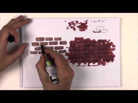 Как нарисовать кирпич.  vol 2. Кирпичная кладка со швом.