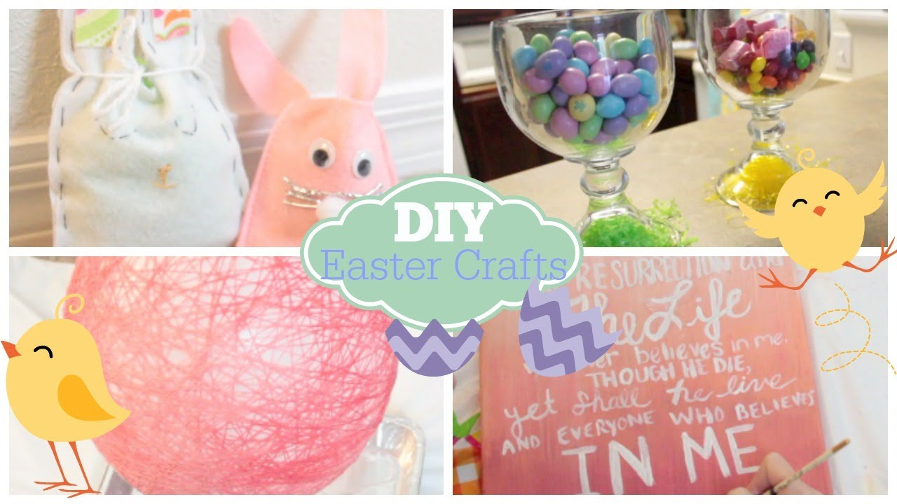 Diy easter crafts decor courtney lundquist youtube for Diy easter room decor