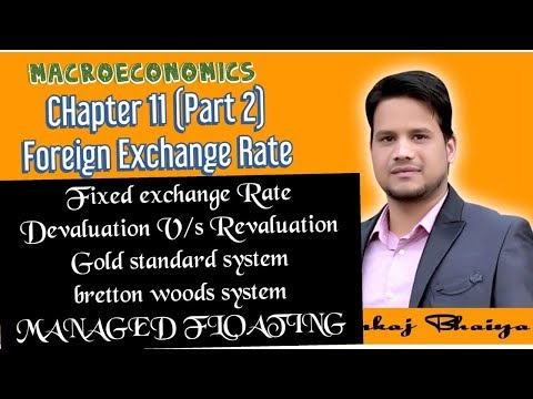 Foreign Exchange Rate (Part 2) Macroeconomics In Hindi, Fixed Exchange Rate, Managed Floating