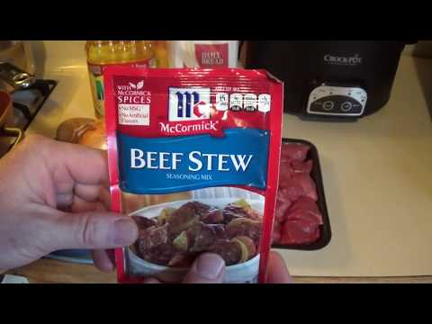 PeePaw McDonald Cooking McCormick Beef Stew Seasoning Mix