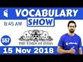 8:45 AM - The Times of India Vocabulary with Tricks (15 Nov, 2018) | Day #557
