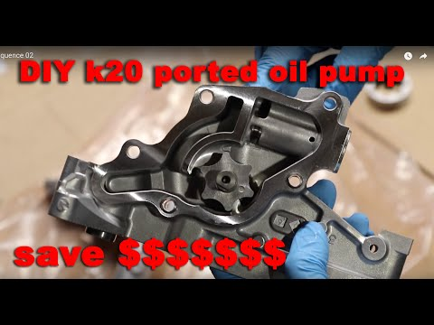 How To Make A 4Piston Ported Oil Pump K20 K24
