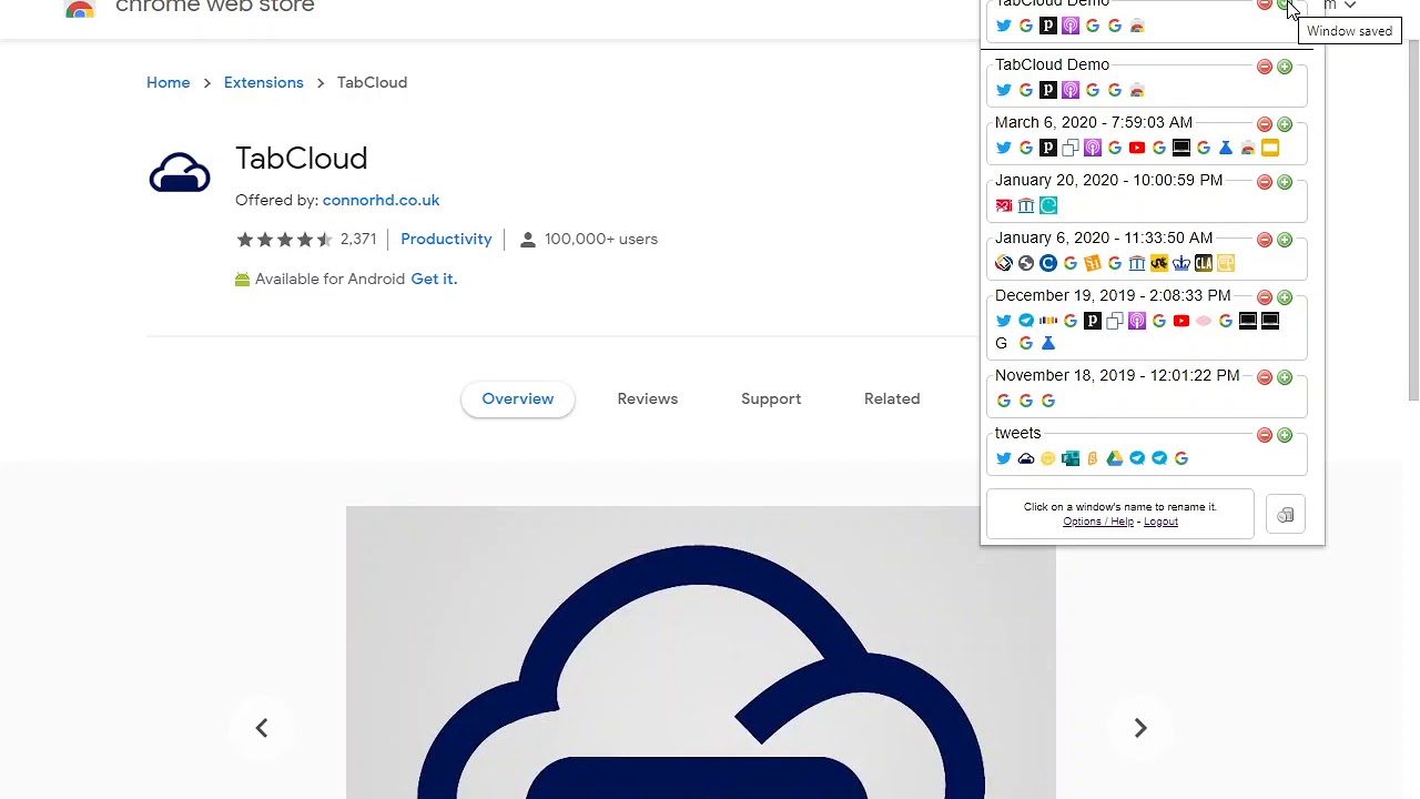 TabCloud Chrome Extension - YouTube