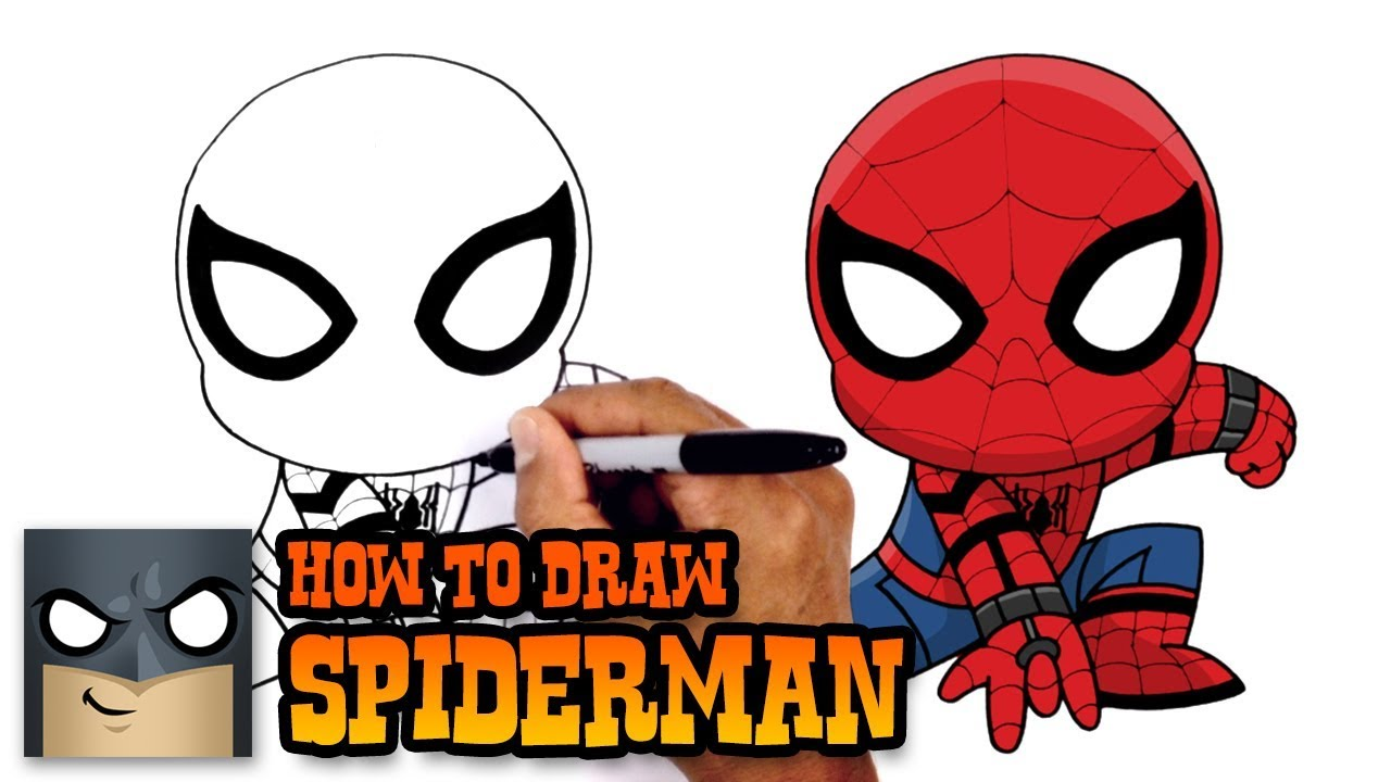How to Draw Spiderman | Spiderman Homecoming - YouTube