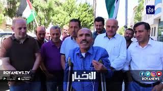 """موظفو """"الاردنية السورية للنقل"""" يعتصمون امام وزارة النقل"""