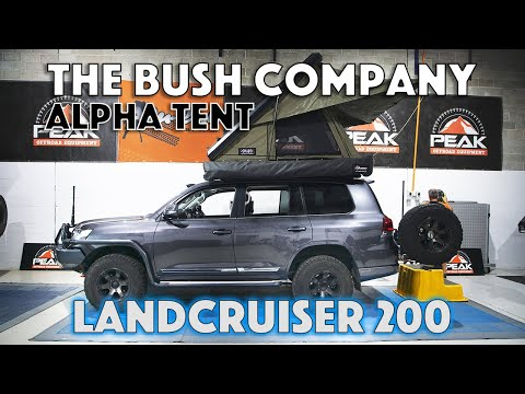 Peak Offroad Equipment - Introducing The Bush Company Alpha Tent - Toyota LandCruiser 200 Series