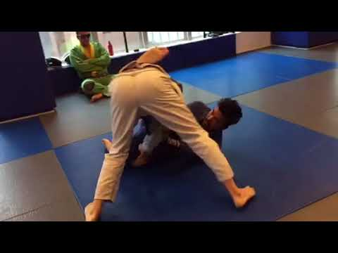 Mike powers Jiu Jitsu sparring with students