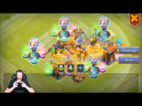 Athene Castle Crisis Ember Army Tearing IT UP Skeletica Castle Clash