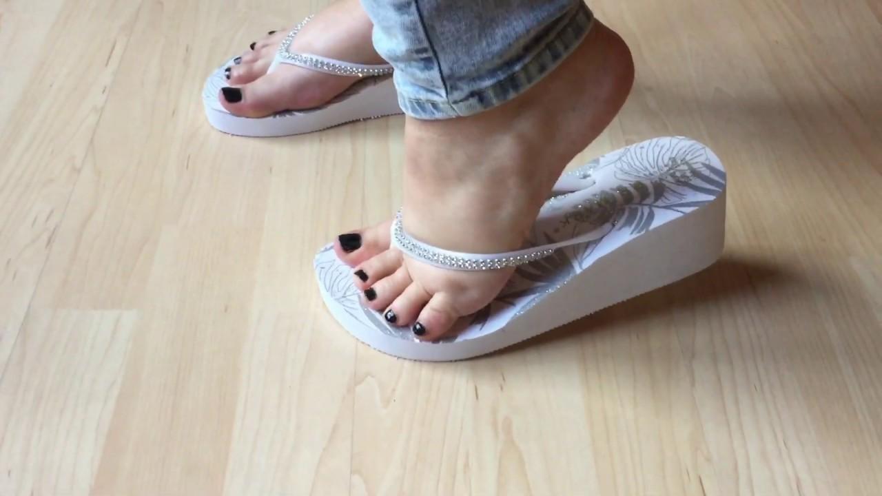 White Flip flop