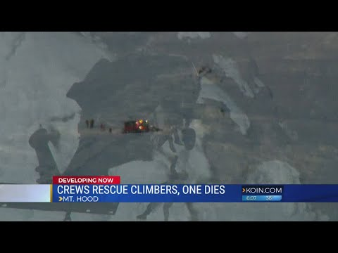 1 climber dies, 6 others rescued on Mt. Hood