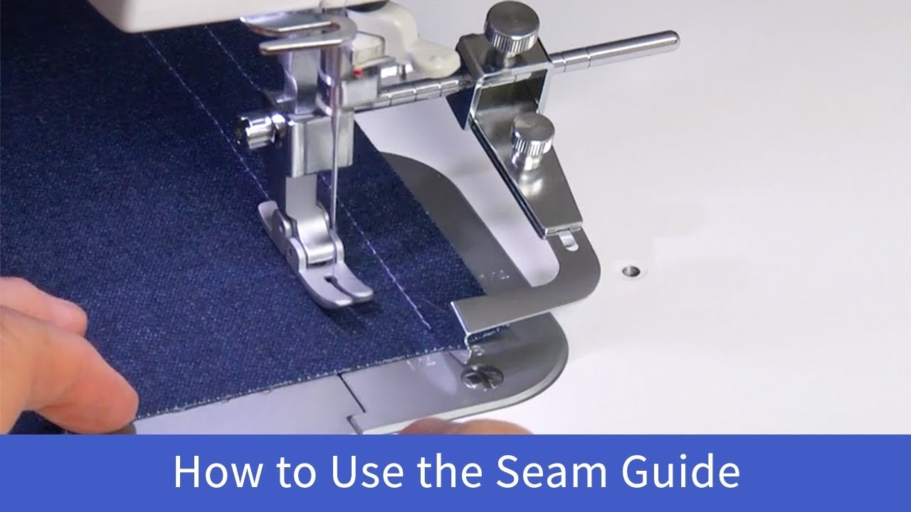 How to Use the Seam Guide on the Baby Lock Accomplish