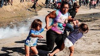The U.S. Is Tear Gassing Toddlers At The Border The US government has had a month to figure out how to handle the .migrant caravan. headed towards our border, and as the first refugees arrived this ..., From YouTubeVideos