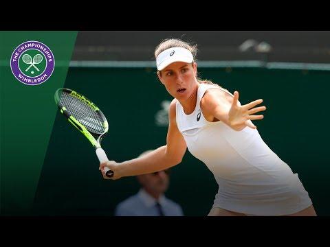 Johanna Konta v Caroline Garcia highlights - Wimbledon 2017 fourth round