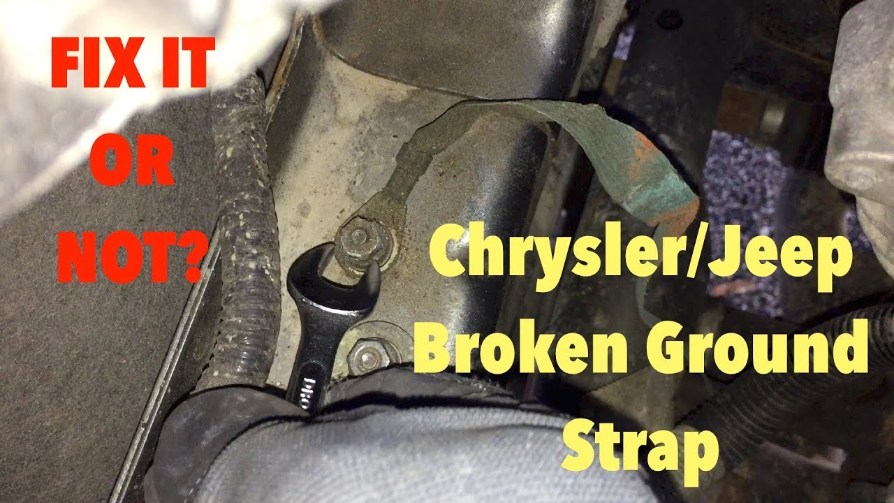 2009 jeep wrangler wiring jeep broken ground strap youtube