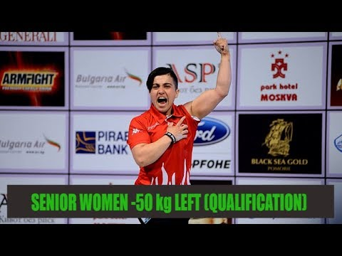 ARM WRESTLING Senior Women -50 kg Qualification Left Hand (European Armwrestling Championship 2018)