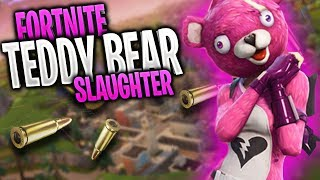 FORTNITE BATTLE ROYALE: NEW VALENTINES DAY TEDDY BEAR SKIN😈 SLAUGHTER FEST🔥