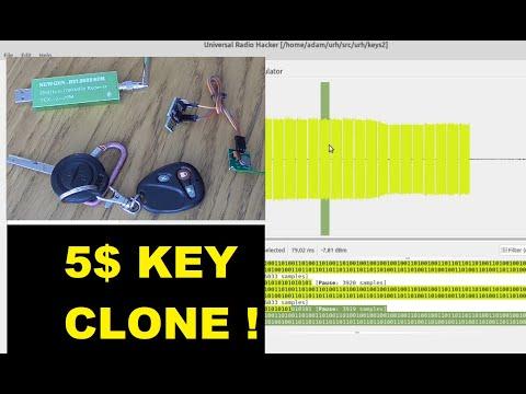 hacking & clonning my garage key with URH ( Universal radio Hacker ) and ARDUINO DIGISPARK + FS1000A
