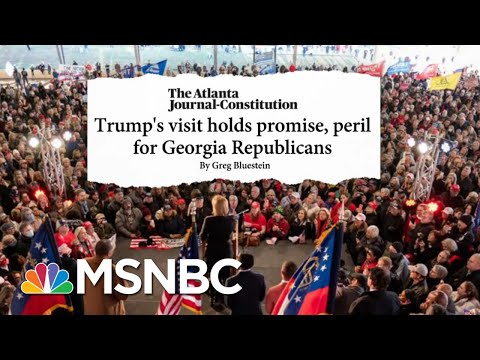There's 'A Lot Of Squeamishness' Among Republicans Over Trump Visit To GA   Stephanie Ruhle   MSNBC