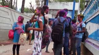 HOLI CELEBRATION AT KOLKATA INDIA 2017 || COLLEGE STUDENT PART 3