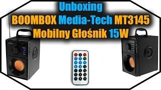 Unboxing BOOMBOX Media-Tech MT3145 - Mobilny Głośnik 15W