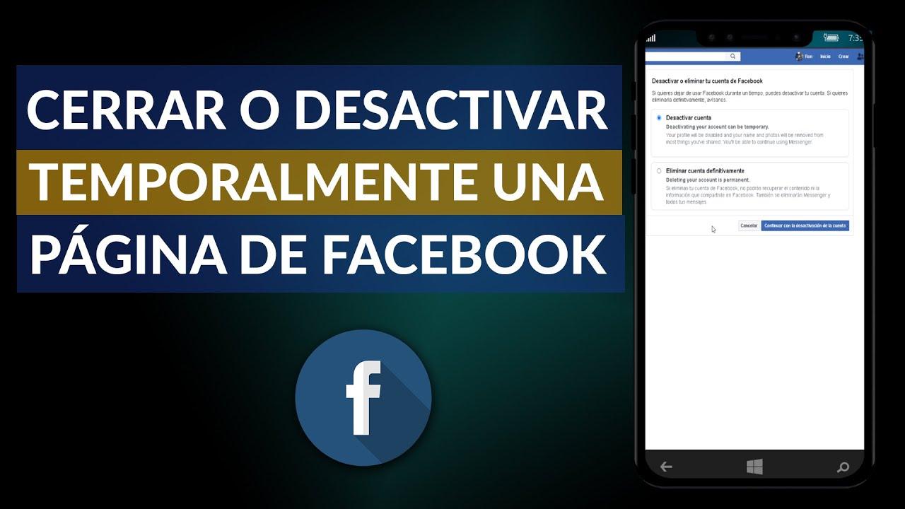 Temporalmente facebook desactivar Cómo desactivar