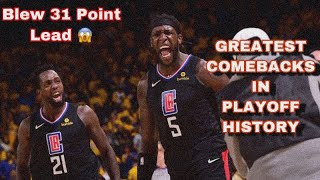 NBA GREATEST COMEBACKS IN NBA PLAYOFF HISTORY