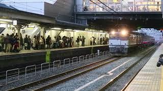 京急新1000形17次車(1613F)甲種輸送 京都駅通過