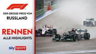 Irres Regenrennen in Sotschi   Rennen - Highlights   Preis von Russland   Formel 1
