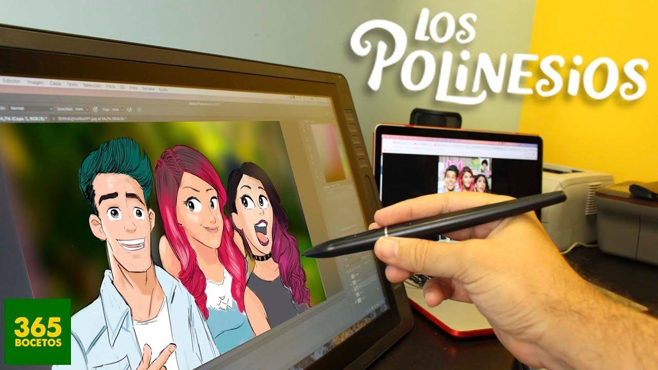 Como Dibujar A Los Polinesios En Digital Nuevo Reto De 365 Bocetos