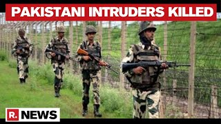 BSF Shoots Down Pakistani Intruders Along The International Border Of Ferozepur In Punjab