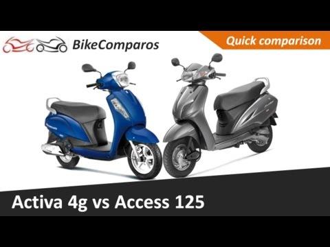 Activa 4G vs Access 125 Comparison Review