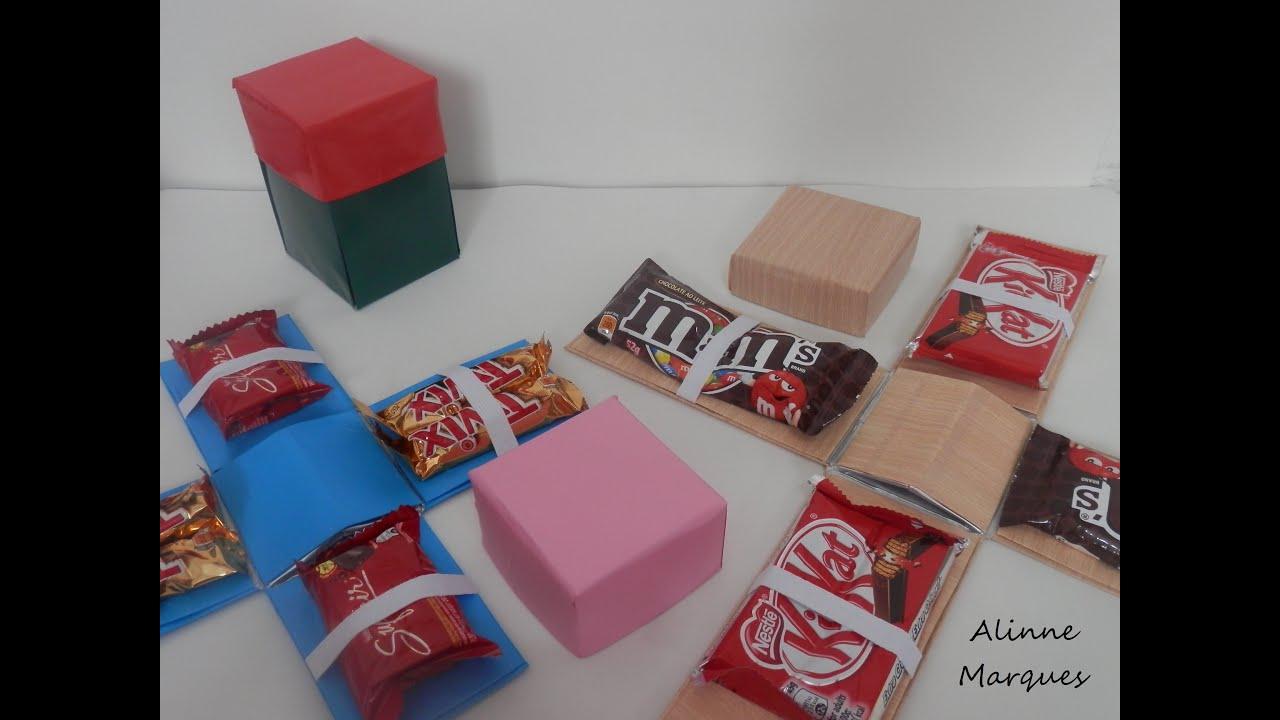 Artesanato Indiano Em Lisboa ~ Caixa explosiva de chocolate Artesanato com reciclagem Passo a passo YouTube