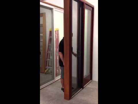 Eagle Sliding Door With Retractable Screen Youtube