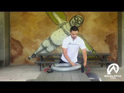 Exercise Ball with Resistance Bands Assembly Video  SoAlpha.com
