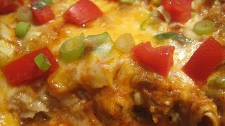 CHICKEN ENCHILADA CASSEROLE - How to make CHICKEN ENCHILADA CASSEROLE