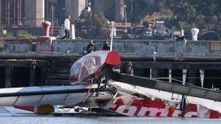 Andrew Simpson's catamaran 'nosedived' before break up