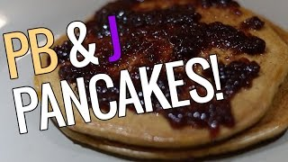 Peanut Butter & Jelly Protein Pancakes