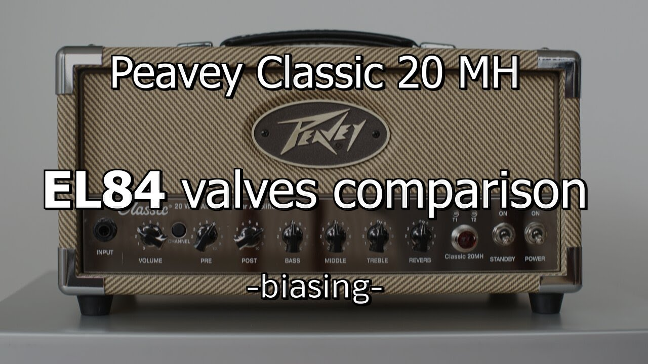 peavey classic 20 mh testing power valves tubes el84 youtube. Black Bedroom Furniture Sets. Home Design Ideas