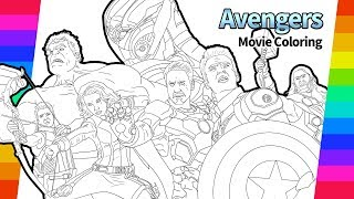 THE AVENGERS Coloring Pages - Age of Ultron Movie Drawing Page | Captain America Hulk Iron man Tor