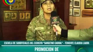 """Escuela de Suboficiales del Ejercito """"Sargento Cabral"""" - Claudia Laura"""