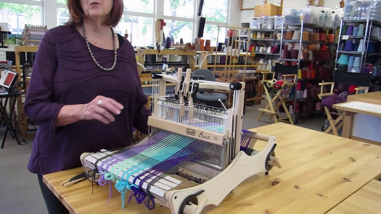 Basics of 4 Harness Weaving with Erica Loom by Louet
