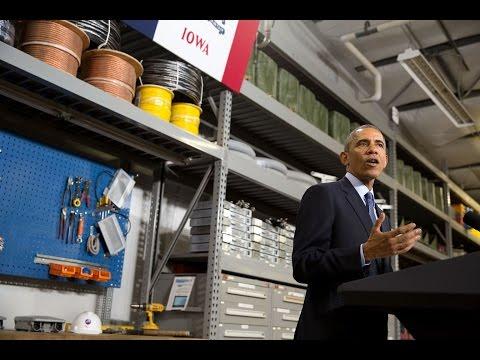 The President Speaks on Promoting Community Broadband