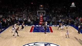 Covington Nails Two 3s to Propel 76ers to Victory | 01.20.17