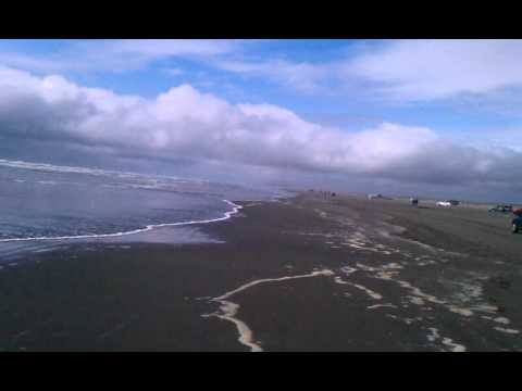 The pacific ocean at ocean shores Wuuu huuu