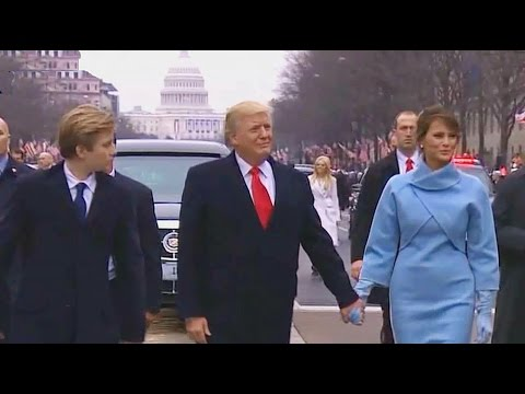 TRUMPS WALK DOWN PENNSYLVANIA AVE.